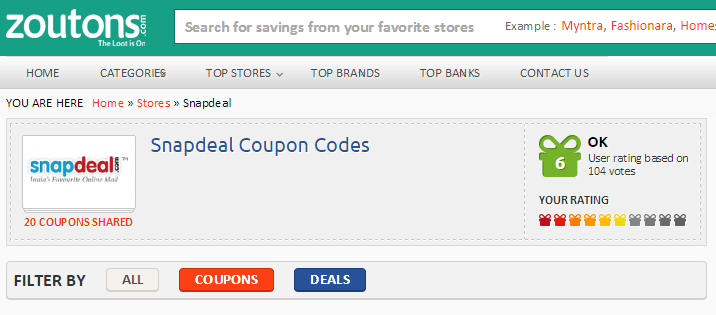 Snapdeal Vouchers
